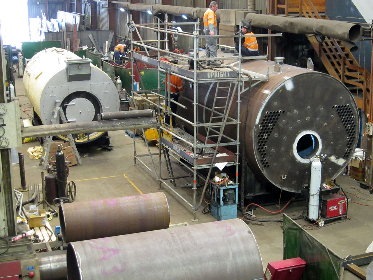 4 & 8MW boilers under construction
