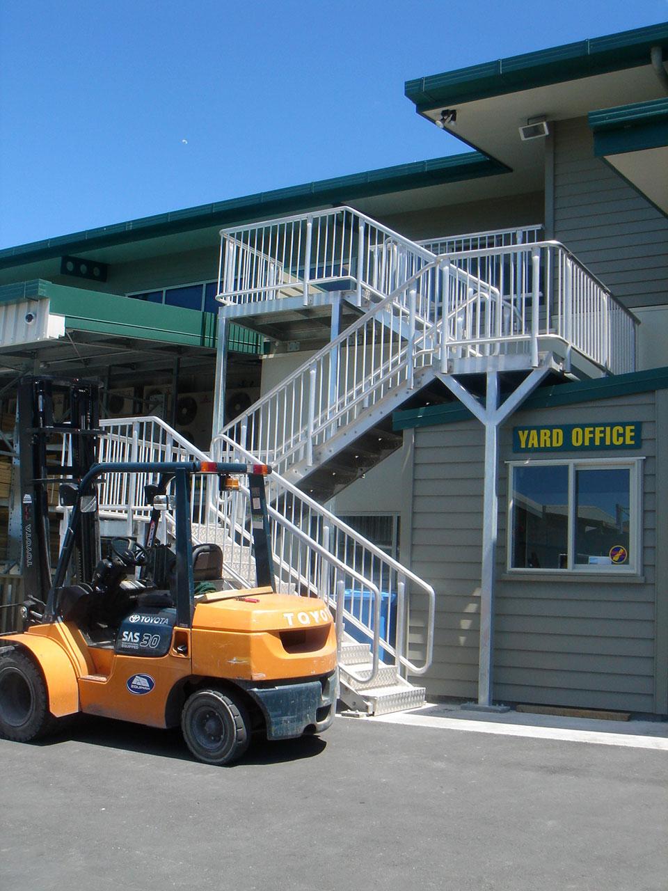 Kaikoura - timber plant stairway