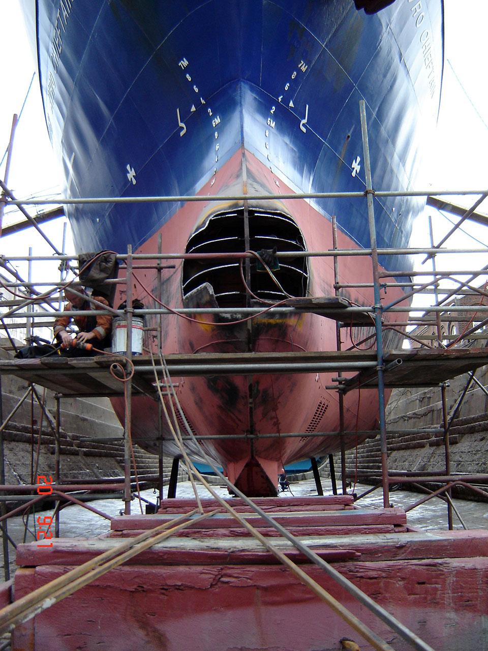 Trawler - Avro Chieftain - bow repairs