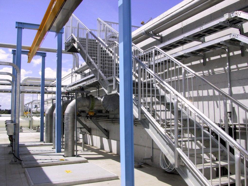 Manukau - waste water plant stairway