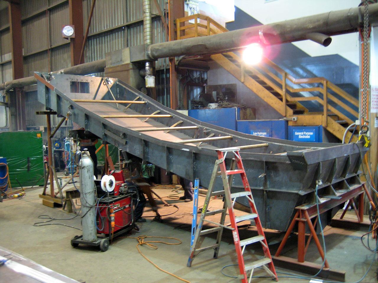 Slurry hopper for the Stockton Coal Plant