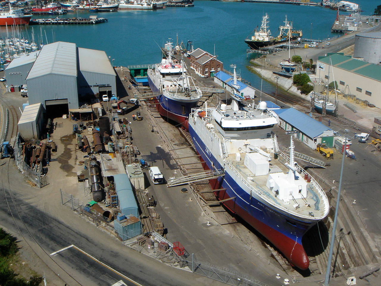 Trawlers - Janus Avro Chieftain - in dry dock