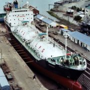 LPG Carrier Arago - in dry dock