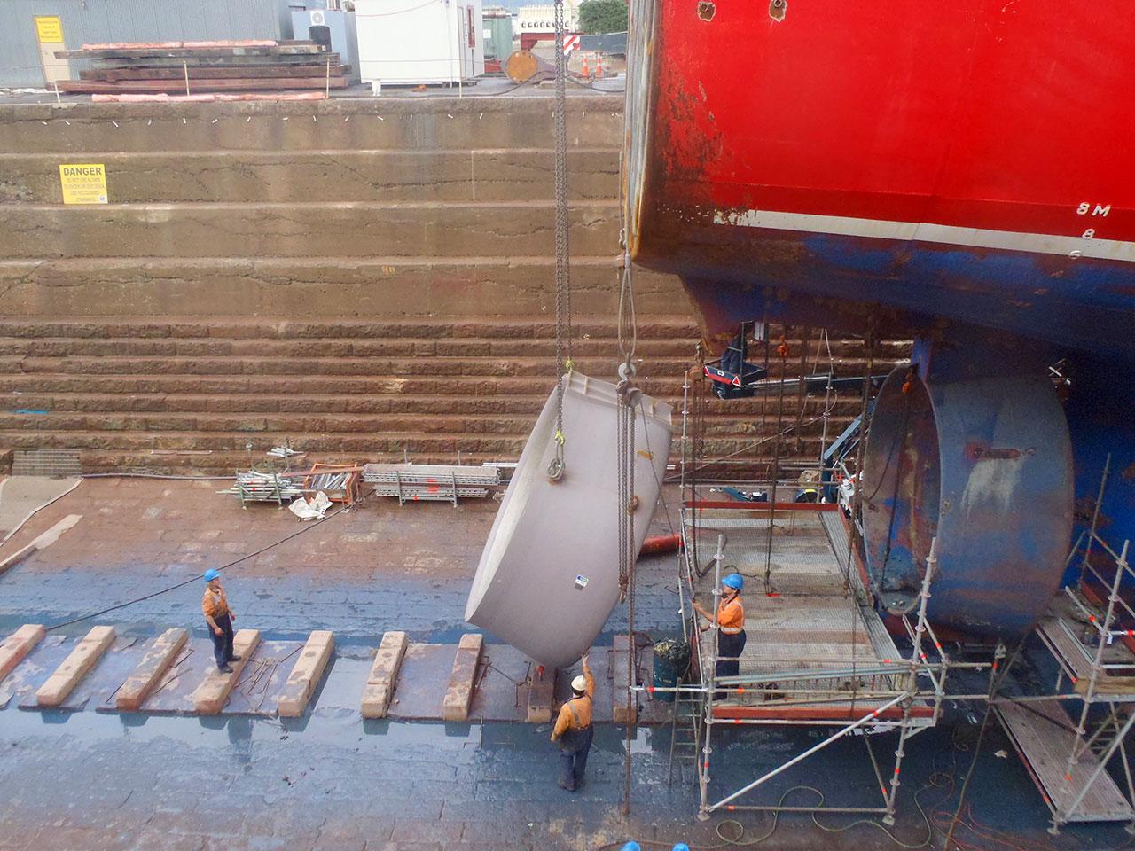 Trawler - Amaltal Columbia - nozzle replacement