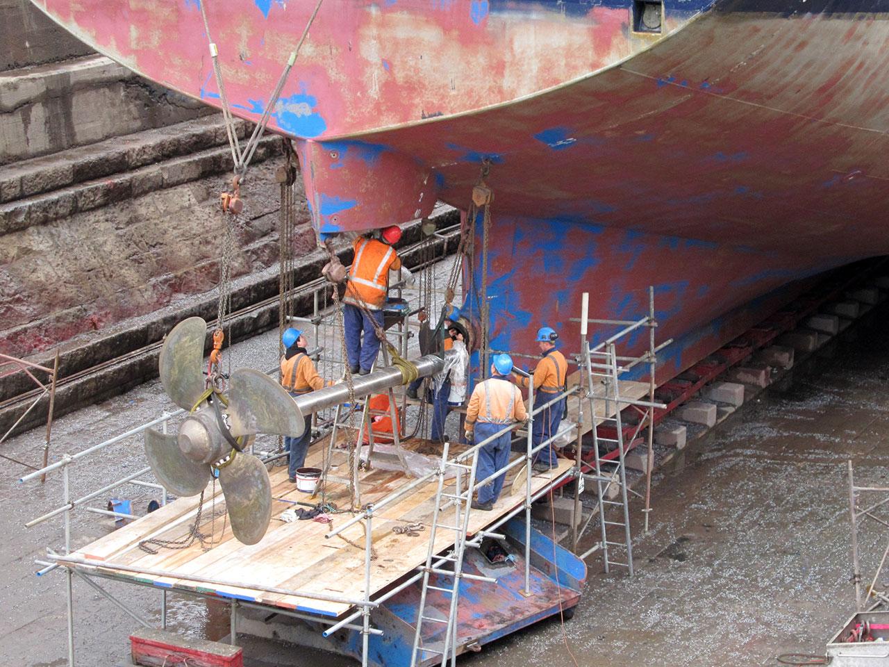 Trawler - San Aotea - prop shaft survey