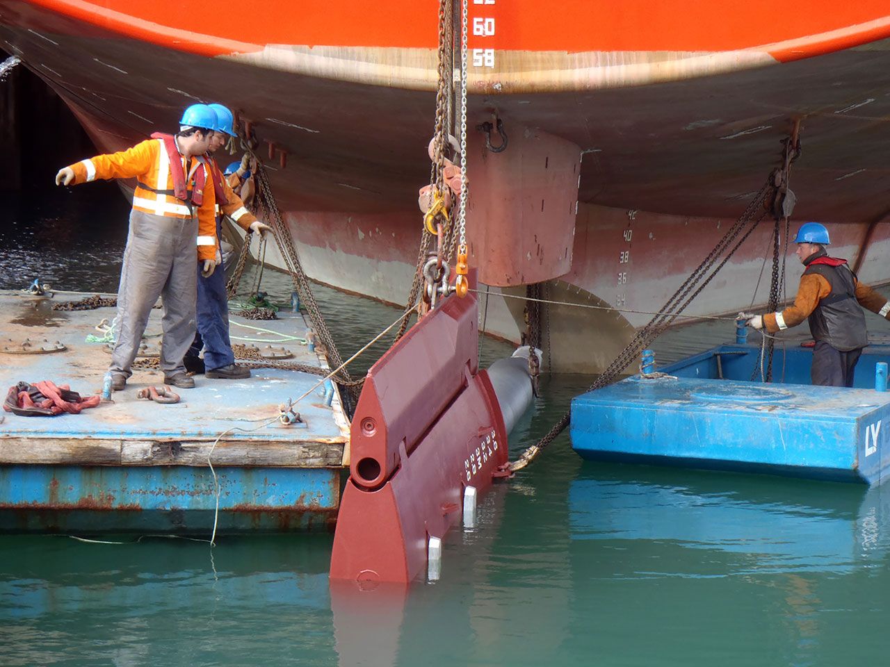 Freighter - Spirit of Resolution - rudder replacement