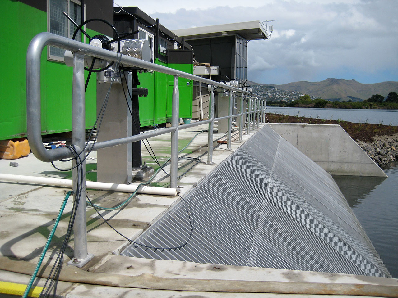 Christchurch - waste water plant, ocean outfall handrailing