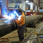 Pile case welding for Lyttelton Port