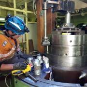 in situ machining steering gear rotor