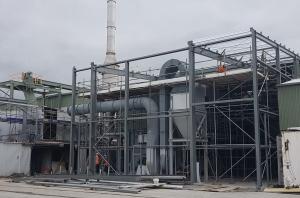 4MW wet wood waste boiler installation